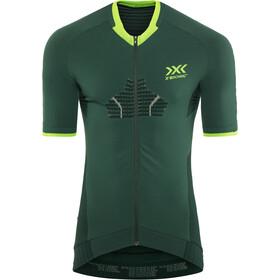 X-Bionic Invent 4.0 Bike Race Maglietta a maniche corte con zip Uomo, verde